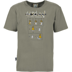 E9 Old School Camiseta Hombre, grey
